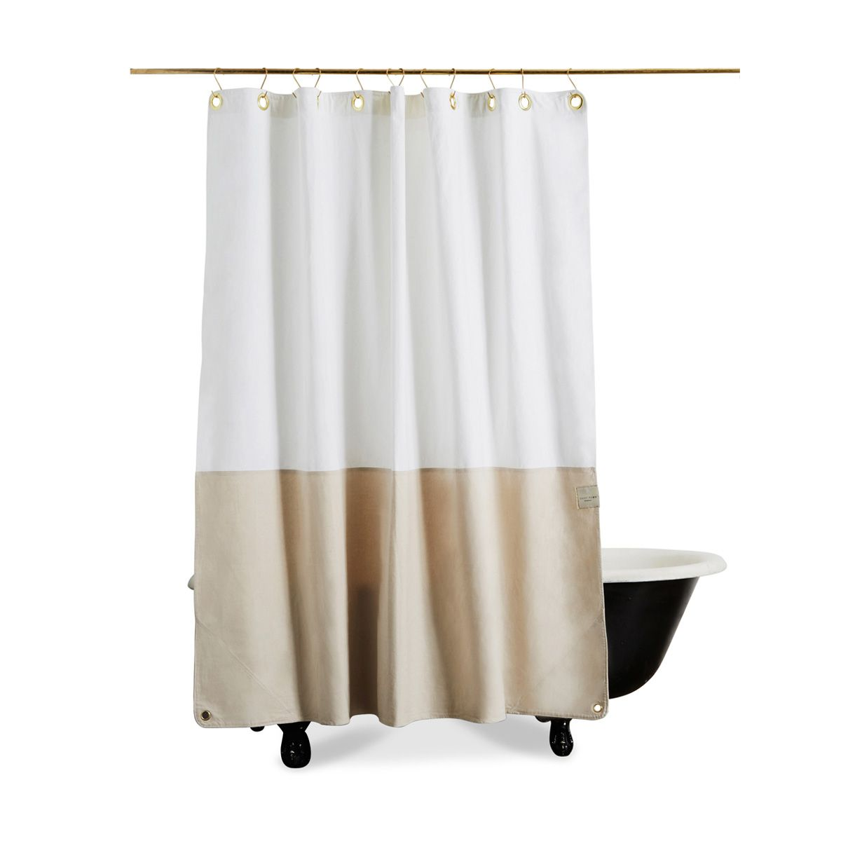 The Orient Canvas Shower Curtain Curtains Shower Curtain