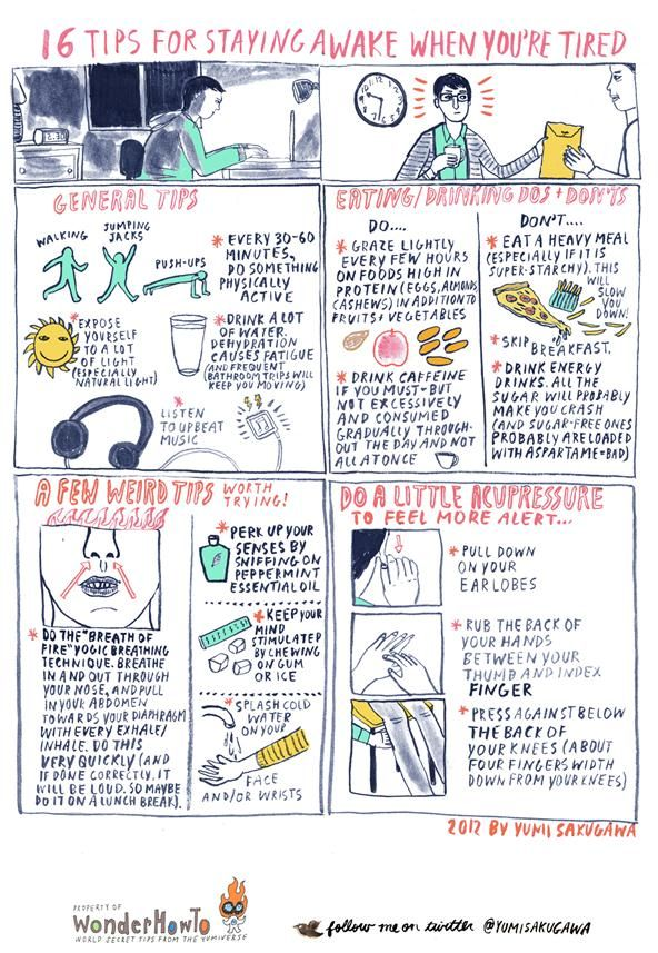 How To 16 Tips for Staying Awake When You\u0027re Tired Acupressure