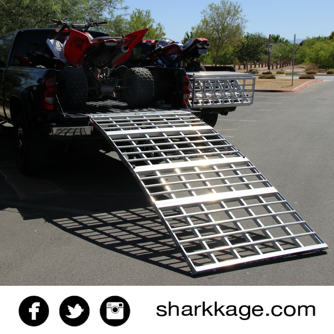 Atv Truck Ramps >> Loading Ramp Motorcycle Ramp Bed Extender Atv Shark Kage