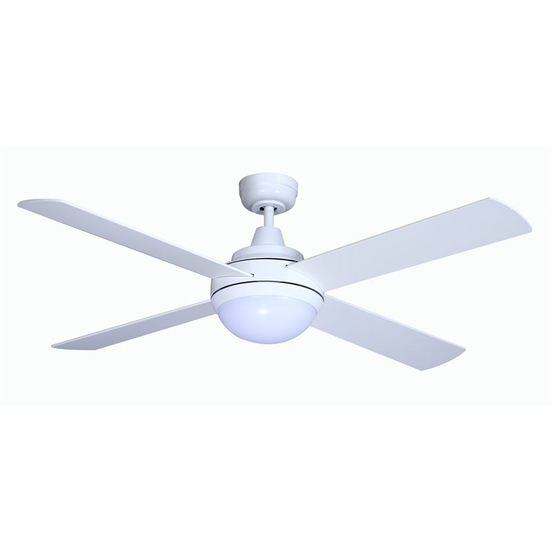 Find Mercator 130cm White Grange Dc 4 Blade Ceiling Fan With Led Light At Bunnings Warehouse