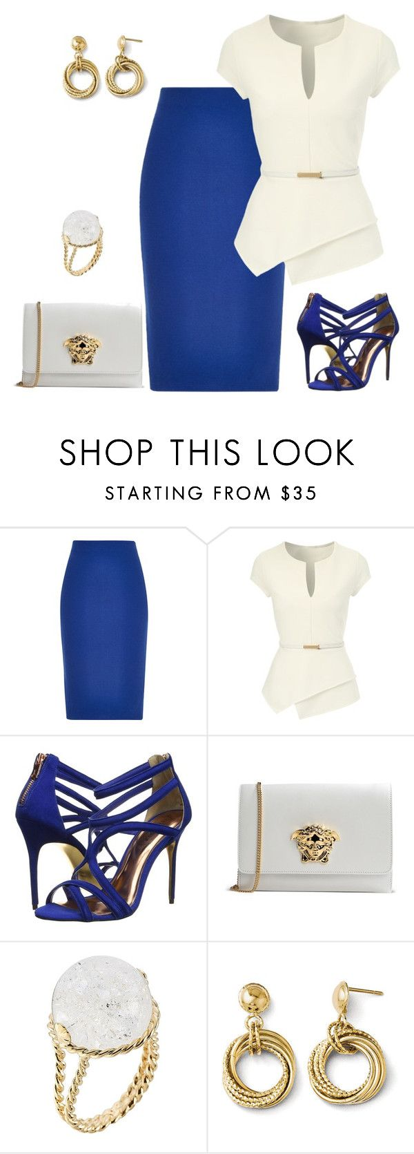 """""""outfit 2454"""" by natalyag ❤ liked on Polyvore featuring River Island, Jane Norman, Ted Baker, Versace and Aurélie Bidermann"""