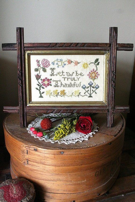 WINTER EDITION-CROSS STITCH LET US BE TRULY THANKFUL