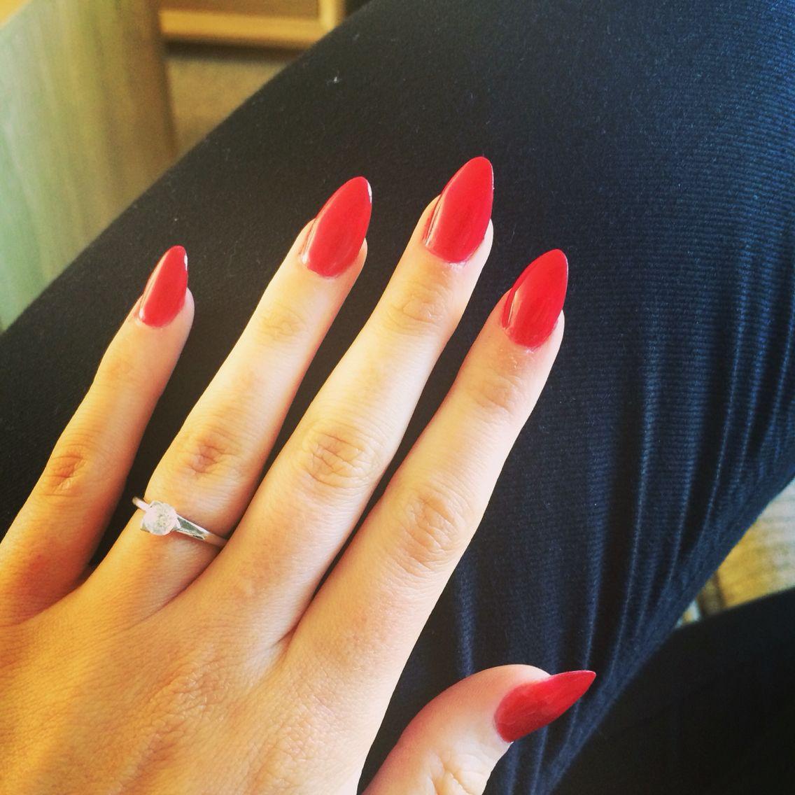 Red Almond Nails | Nails, nails...more nails! | Pinterest ...