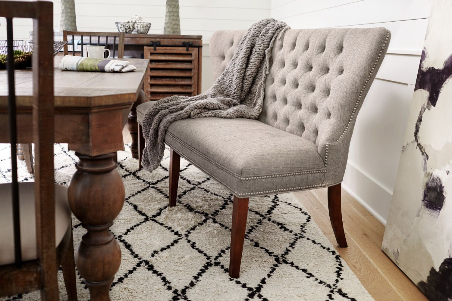Awe Inspiring Gristmill Banquette Cocoa Kitchen Bench Furniture Ibusinesslaw Wood Chair Design Ideas Ibusinesslaworg