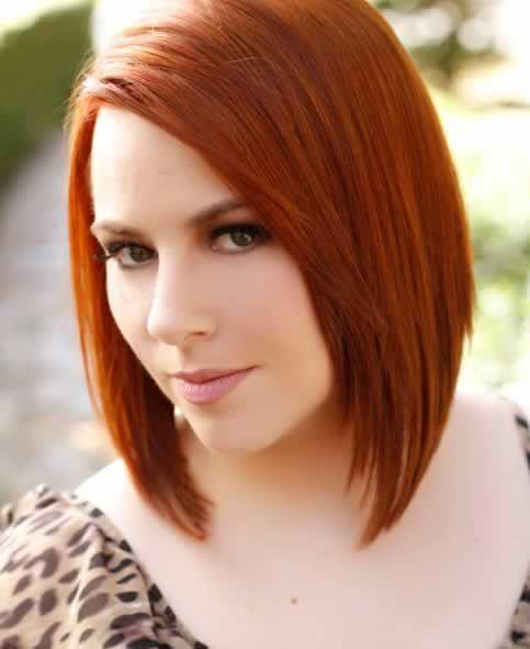 Corte de pelo de media melena color canelaimagen03 cortes de