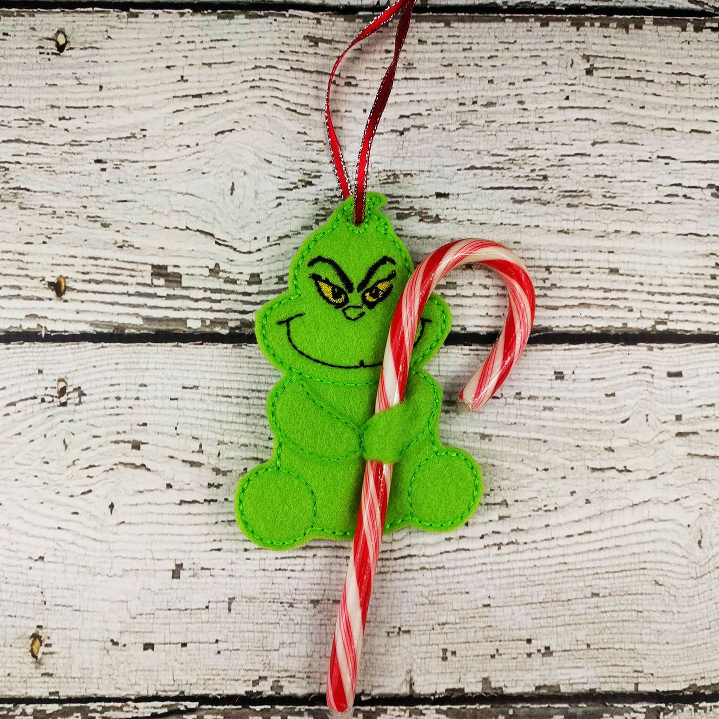 Don T Be A Grinch These Candy Cane Holder Ornaments Are So Much Fun Give As A Gift Grinch Christmas Party Christmas Ornaments Grinch Christmas Decorations