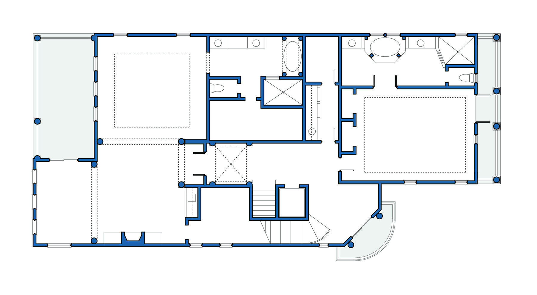 Clear Basic Floor Plan Easy To Read Layout Floor Plans How To Plan Layout