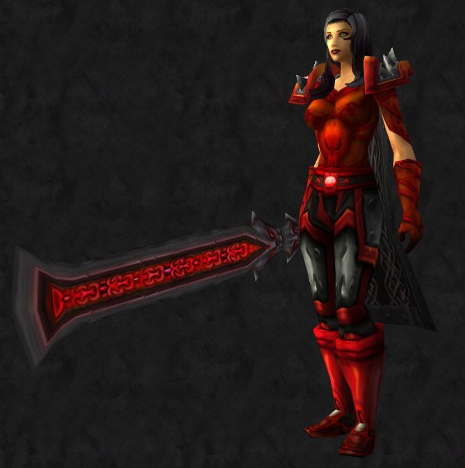 This is a red and black plate set accessible to paladins death knights and & Black and Red and Blood All Over? | Pally Transmog | Pinterest ...