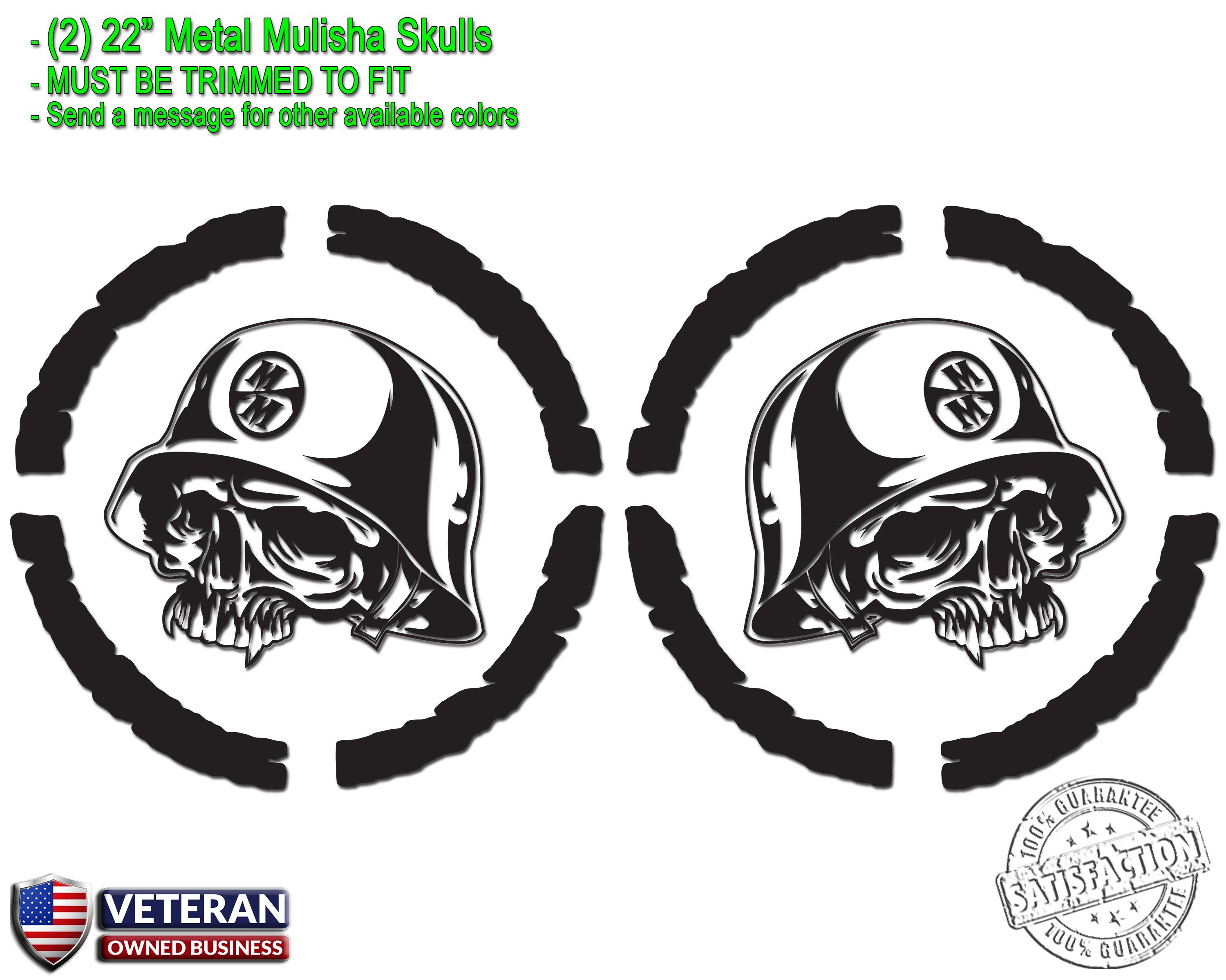 2) Metal Mulisha Skull Vinyl Decals 22