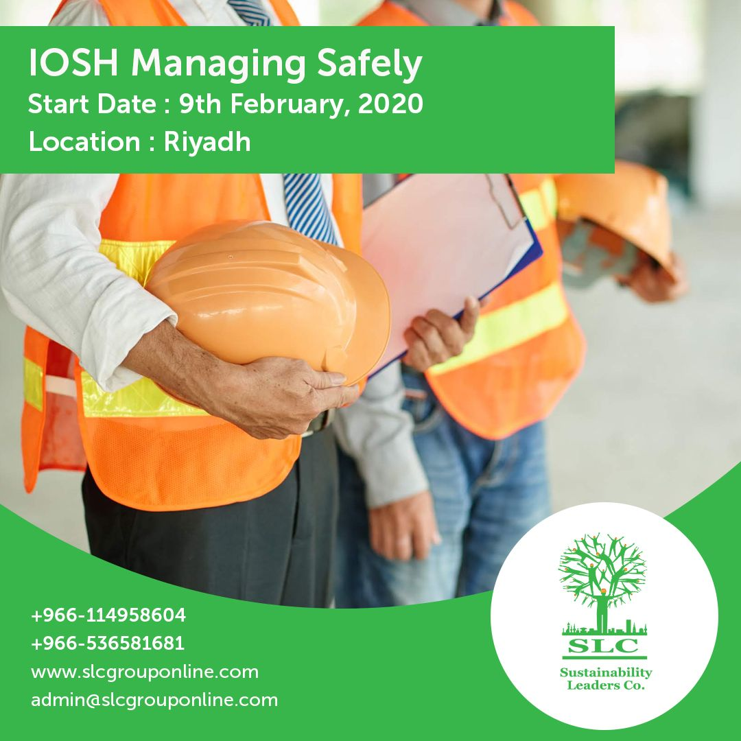 IOSH Managing Safely Start Date 09/01/2020 Location