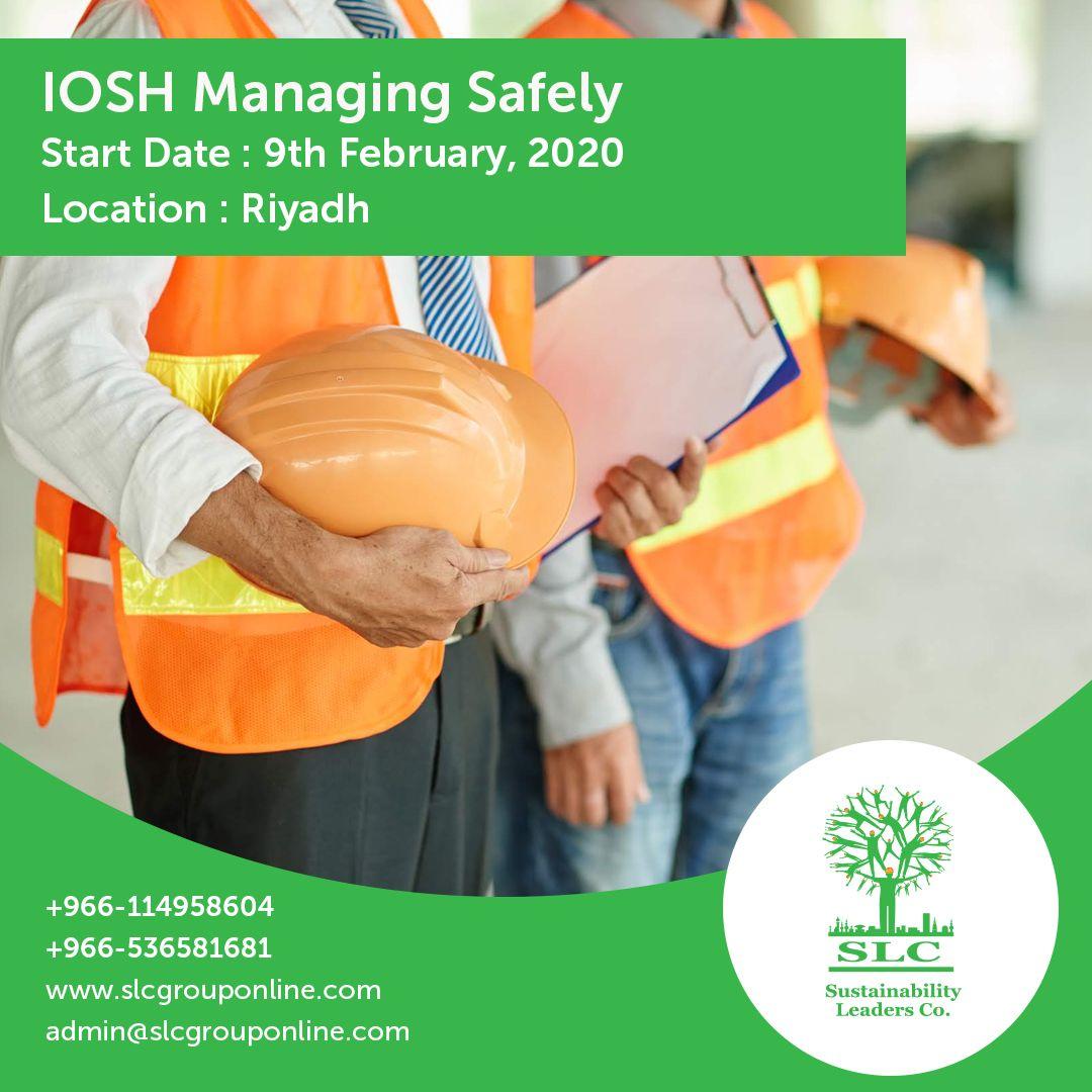IOSH Managing Safely Start Date 09/01/2020 Location