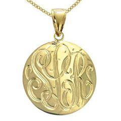Zales Monogram Initial Scroll Pendant in Sterling Silver with 24K Gold Plate (3 Initials) B2zoI
