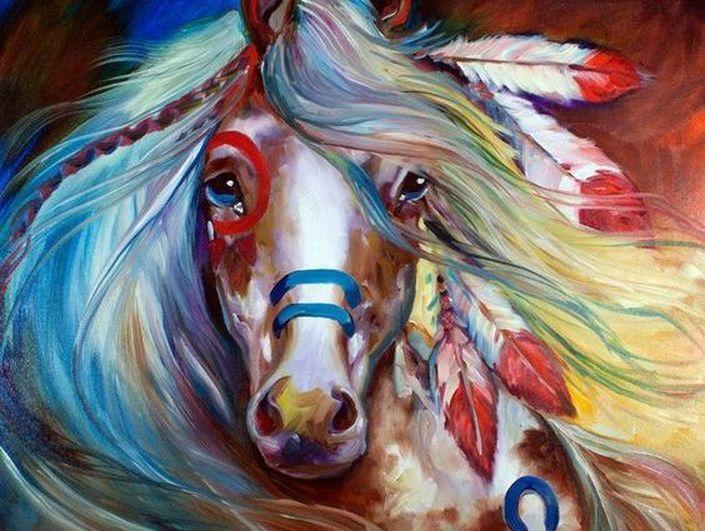 Konj Je Umro Silazi Indian Horses Horse Artwork Horse Oil Painting