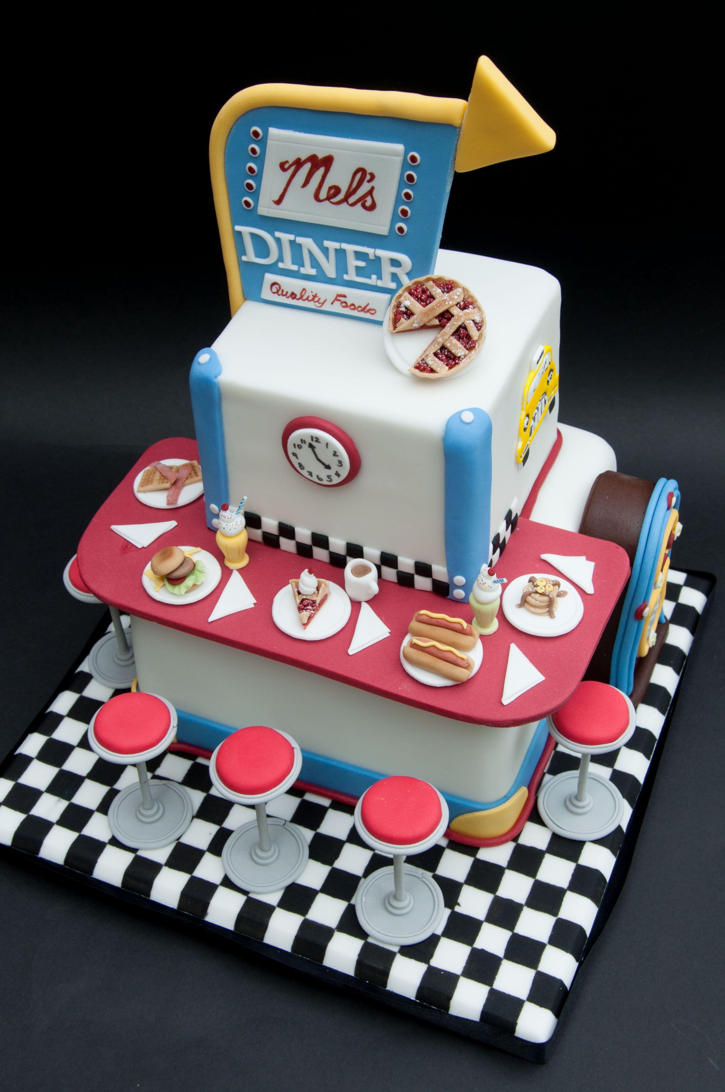 Retro American Diner Cake | Cakes | Pinterest | Torten, Geburtstag ...