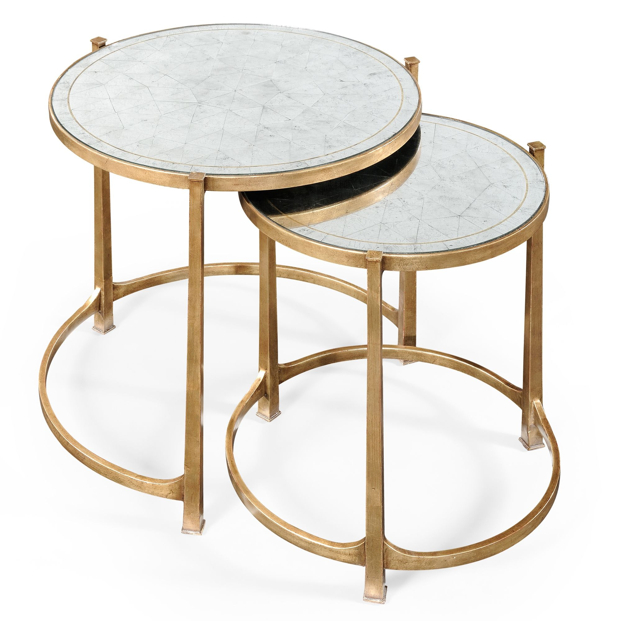 Iron Side Tables For Living Room Jonathan Charles Artanis Nesting Tables Stunning Set Of