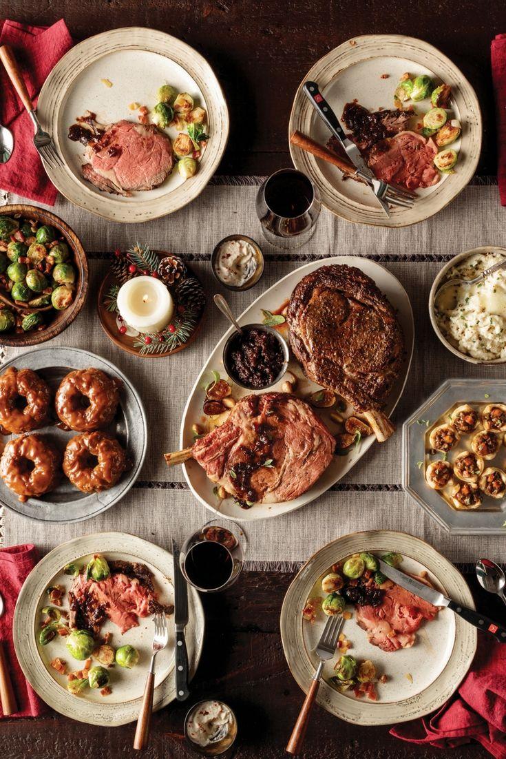 Reverseseared holiday beef roast dinner roast dinner