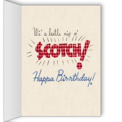 Funny scottish birthday card pinterest birthdays funny scottish birthday card m4hsunfo