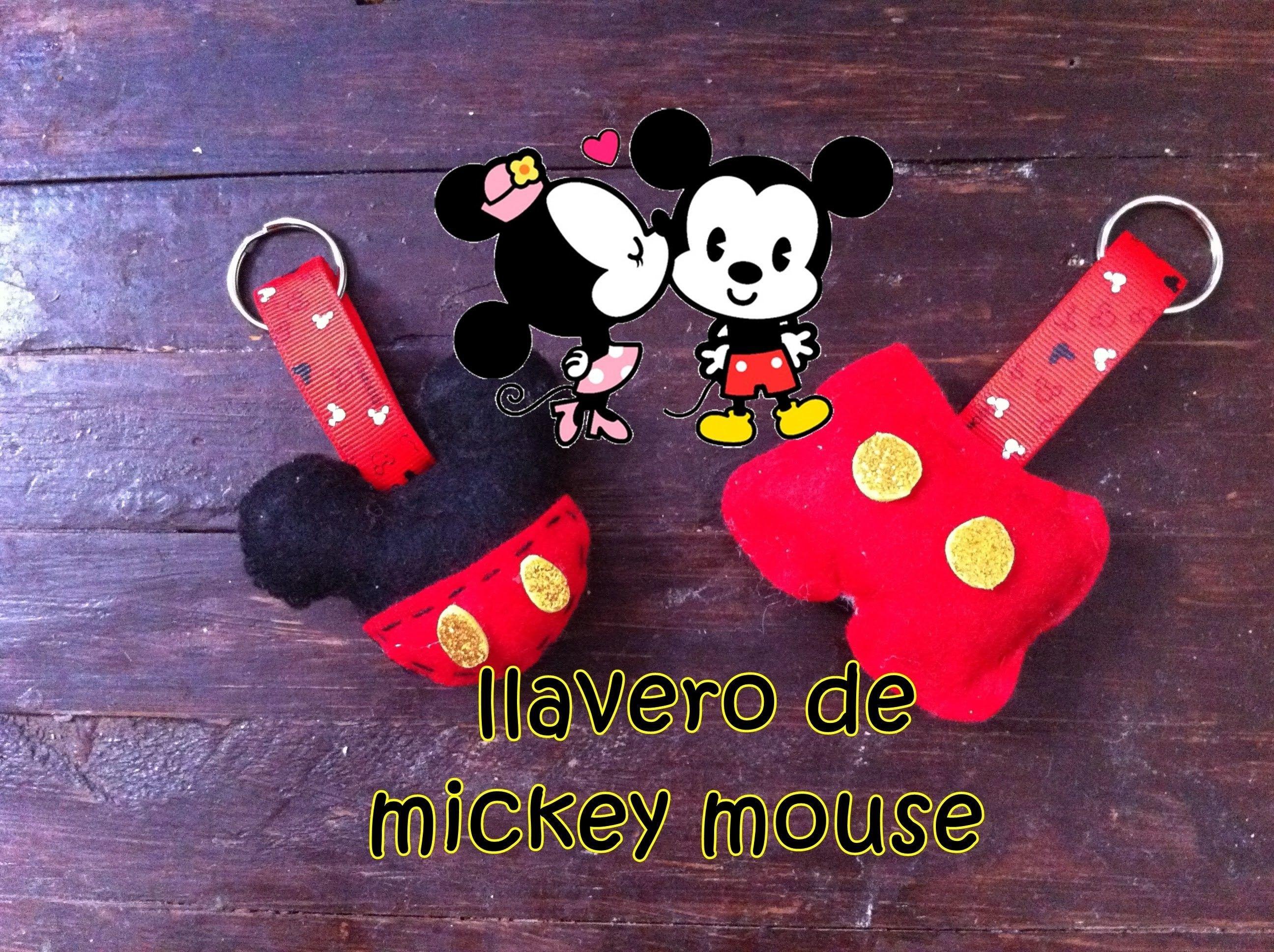 DIY Llavero de Mickey Mouse  0f35fb165a1