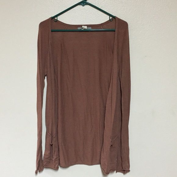 Light brown Cardigan Long light brown cardigan. In great condition! Don't forget to bundle! FAST SHIPPER Sweaters Cardigans