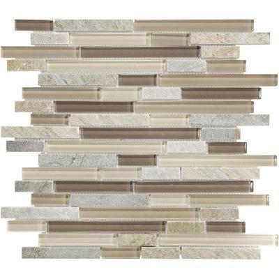 Sassi Aspen Linear Quartz Glass Mosaic 12 150 Home