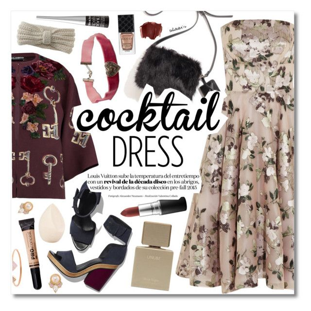 """""""Cocktail Dress"""" by talukder ❤ liked on Polyvore featuring Alexander McQueen, Dolce&Gabbana, Pierre Hardy, Christian Dior, MAC Cosmetics, Aéropostale, Wet n Wild, Gucci, Carolee and Michael Kors"""