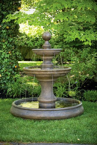 Details About 62 Opal Two Tier Fountain With Pool Outdoor Cement Fountains Outdoor Garden Water Fountains Yard Fountain