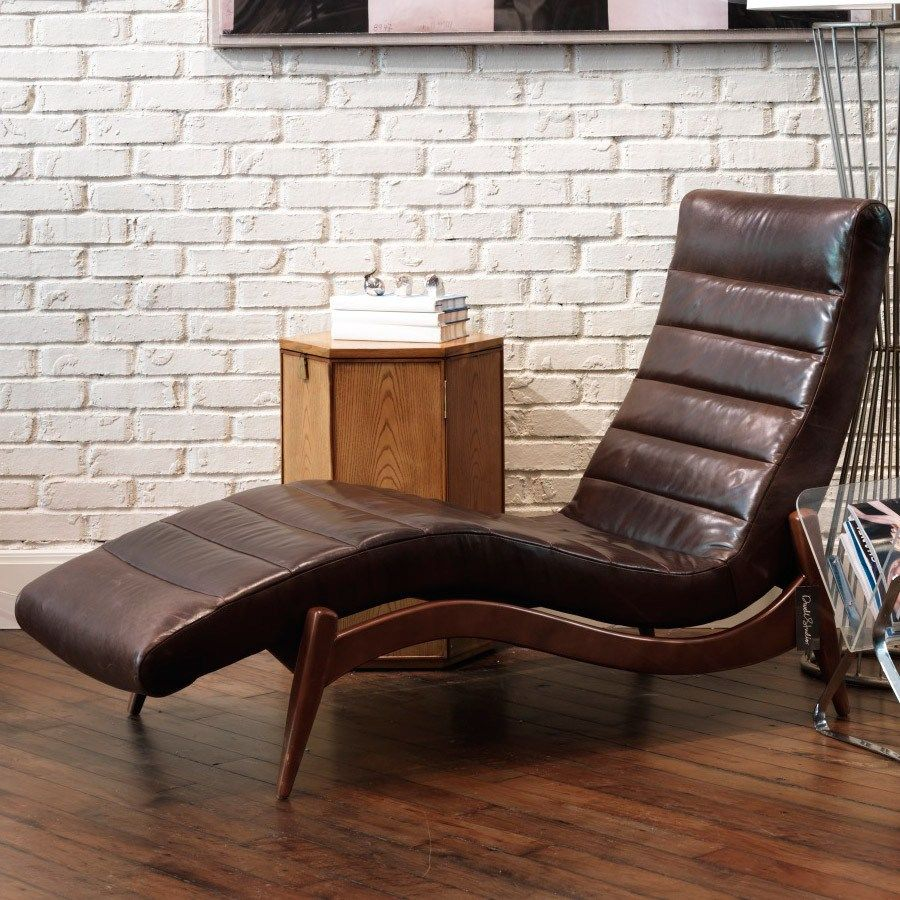 Chez Lounge Furniture Living Room Classic Leather Chaise ...