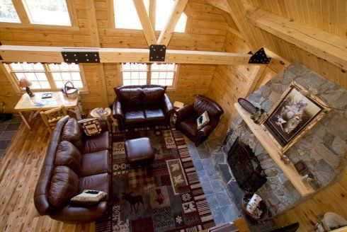 log cabin interior styles | log homes | timber frame homes