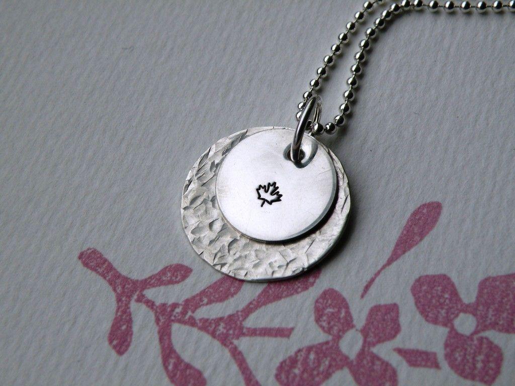 Maple Leaf Simple Statement Necklace. $38.00, via Etsy.