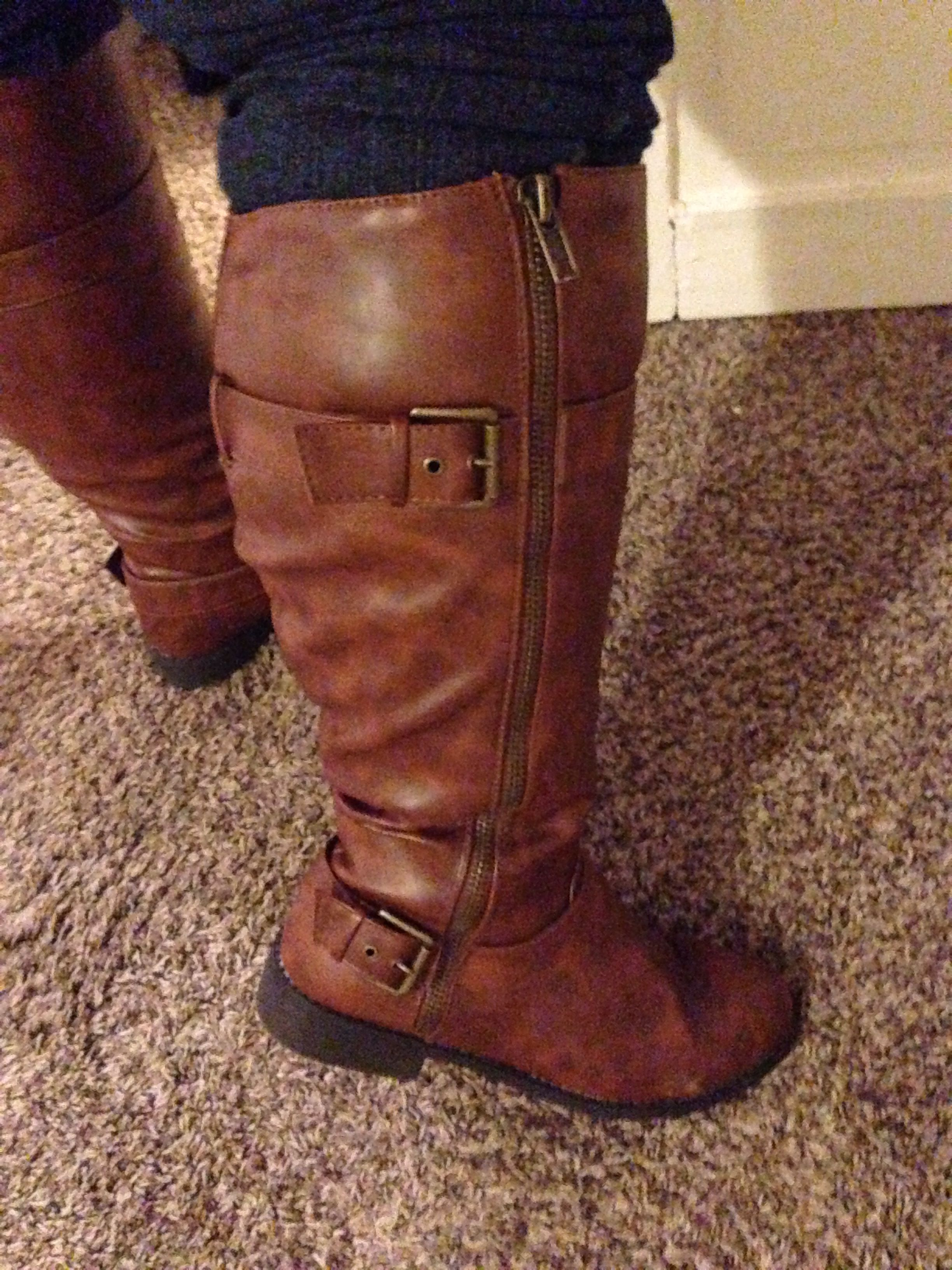 wide calf brown boot payless 55 99 2 toe