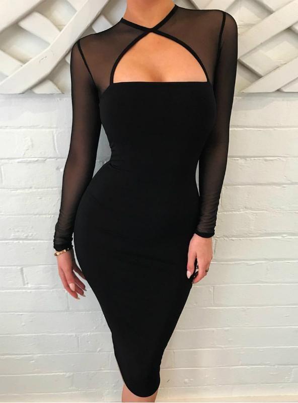 Club Wear Long Sleeve Bodycon Dress 2