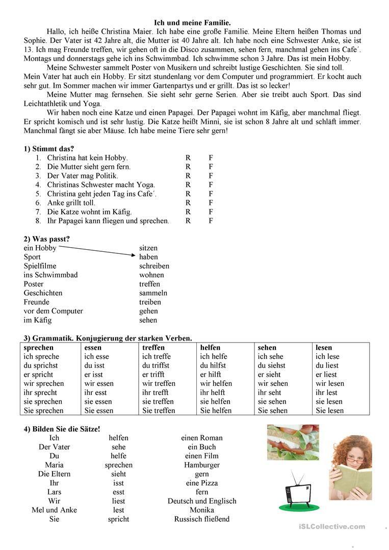 Familie Deutsch Lernen Unterrichten Und Spanisch Unterricht