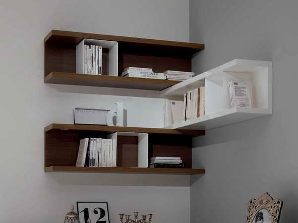 Wall Mount Corner Shelf With Books In Order Unique Wall Shelves