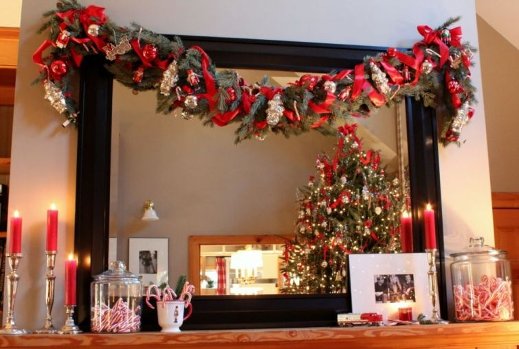 Talk of the House - Christmas garland and mantel