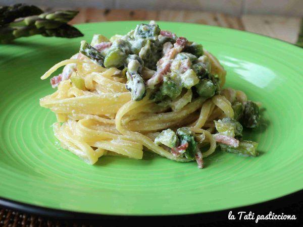 linguine cremose asparagi