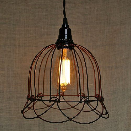 Pendant Light, Small Wire Bell Lamp, Plug in Colonial Tin Works http ...