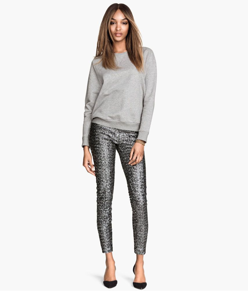 1 day super sale. Another listing for $120. Less than half price! 1 piece in each size. hurry. ships worldwide. bnwt most adorable sequin gray leggings H&M USA. HOT TREND!