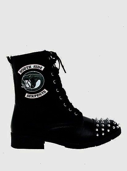 FoldOver Boots Hot Topic Exclusive  Informations About Riverdale Southside Serpents Studded FoldOver Boots Hot Topic Exclusive  Pin You can easily use my profile to exami...