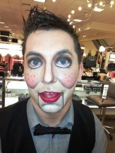 30 Halloween Makeup Ideas For Men Flawssy Doll Halloween Costume Doll Makeup Halloween Doll Costume