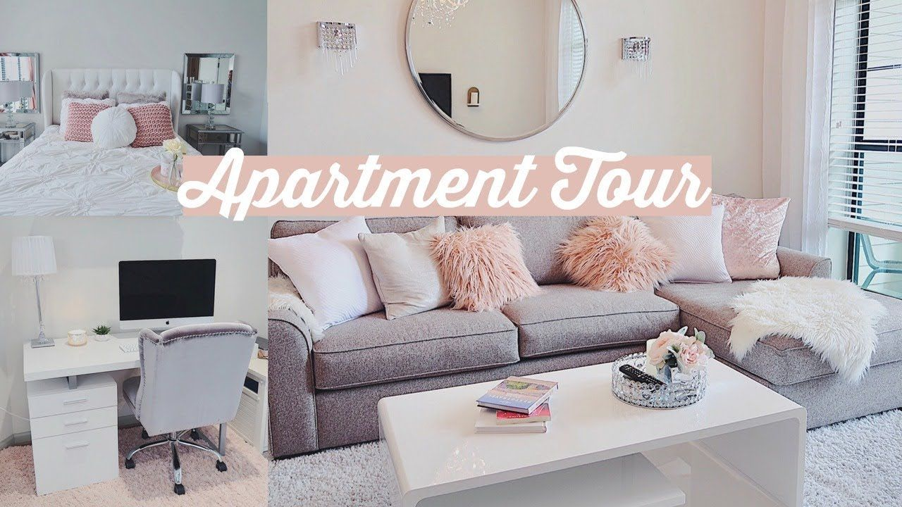 Furnished Apartment Tour Simple Glam Youtube Furnished Apartment College Apartment Decor Apartment Tour Youtube decorating living room