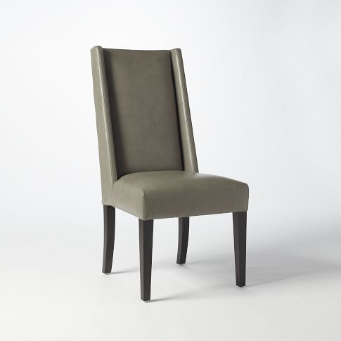 Willoughby Leather Dining Chair In Elephant Color Perfect Head Chairs For Room