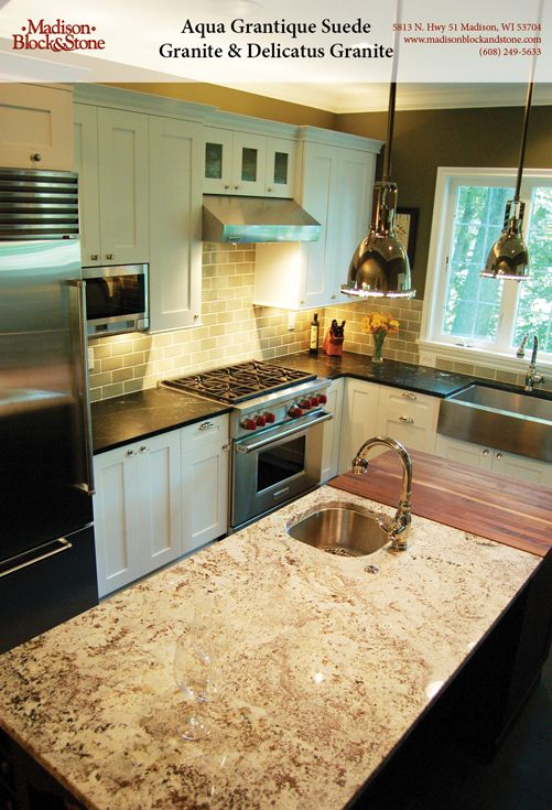 Aqua Grantique Suede Granite U0026 Delicatus Polished Granite