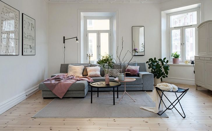 Une déco de salon en rose et gris | Deco salon, Salons and Living ...