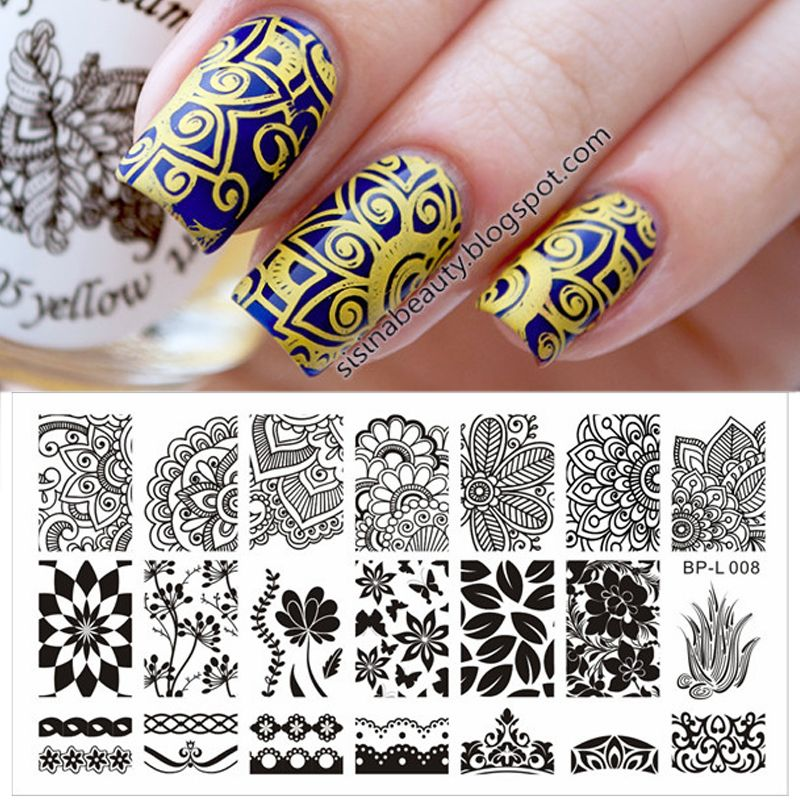 Various Arabesque Pattern Nail Art Stamp Template Image Plate BORN - stamp template