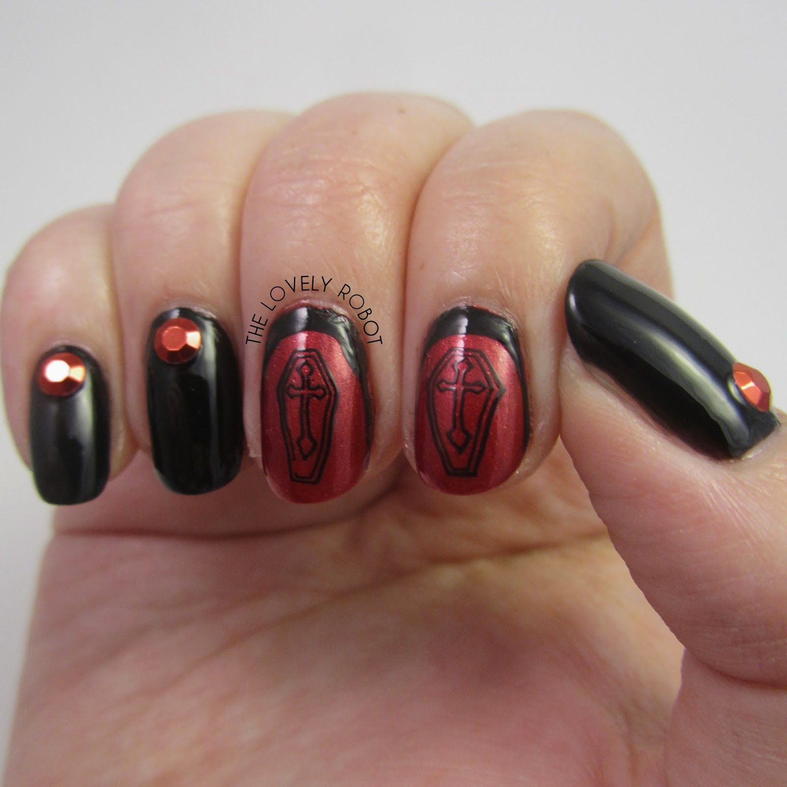 Death Nails For Halloween And Bundlemonsters 30 Days Of Scream Nail