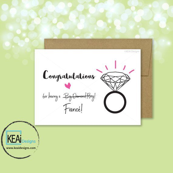 5x7 Fun Engagement Congratulations Card Congratulations