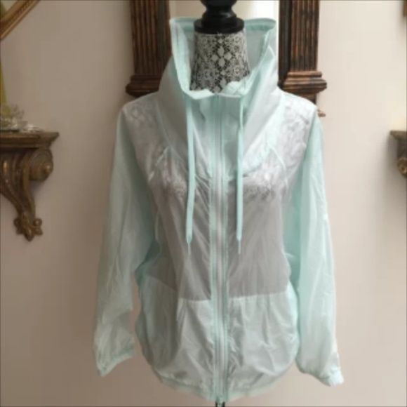 Nwt Stella McCartney teal windbreaker Stella mcartney for Adidas. Medium. Pretty detailing. Stella McCartney Jackets & Coats