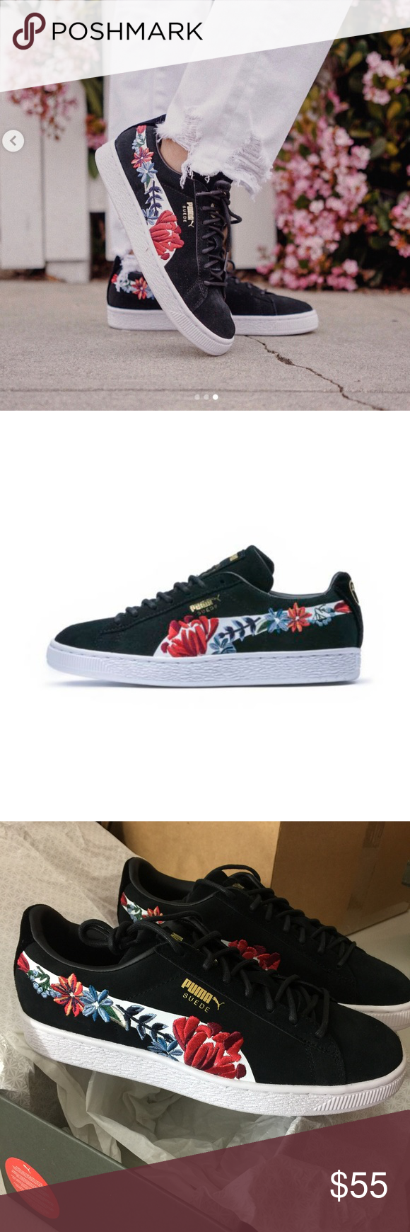 NIB Suede Hyper Embellished Sneaker