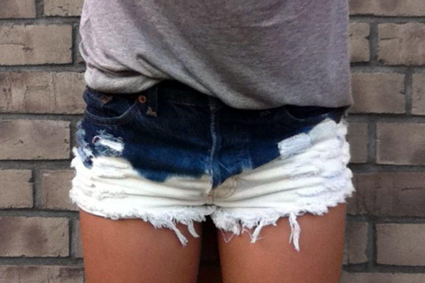 dip bleach shorts