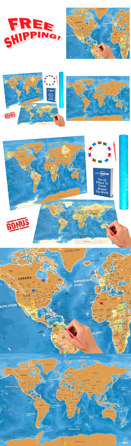 Other travel maps 164807 scratch off world travel map tracker flags other travel maps 164807 scratch off world travel map tracker flags pins scratcher pen tool gumiabroncs Images